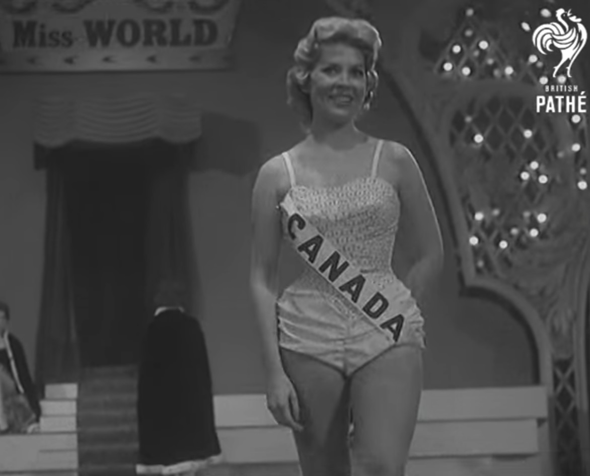 Judy Welch of Toronto Ontario at Miss World - 1957