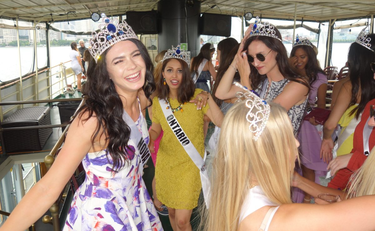 Miss Nova Scotia World enjoys Mariposa Toronto Harbour Cruise