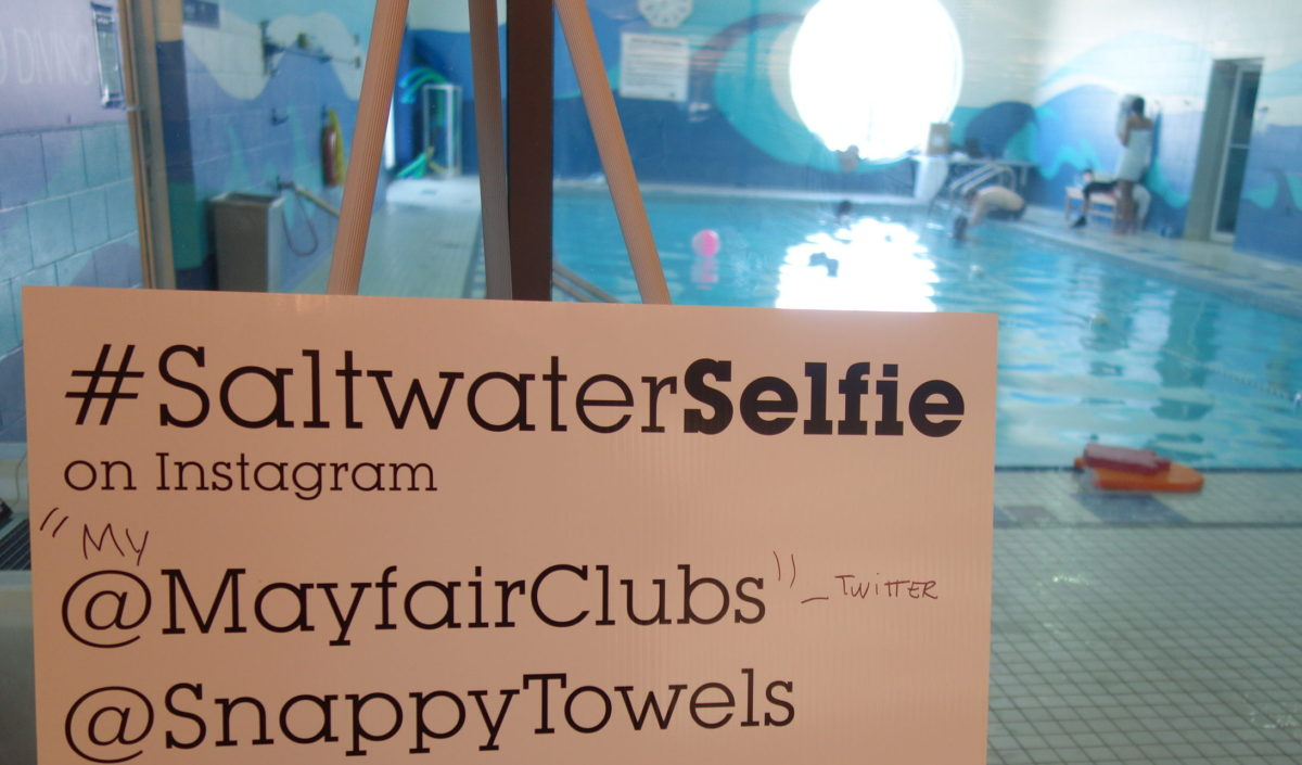 SaltwaterSelfie attraction at Mayfair Clubs swimming pool
