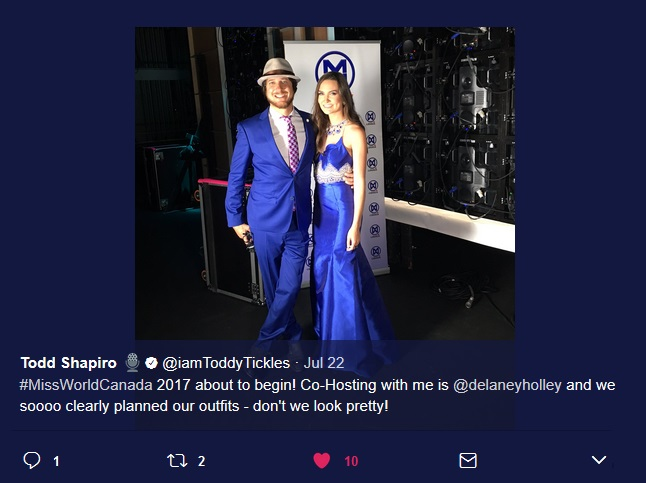 Todd Shapiro with Delaney Holley,