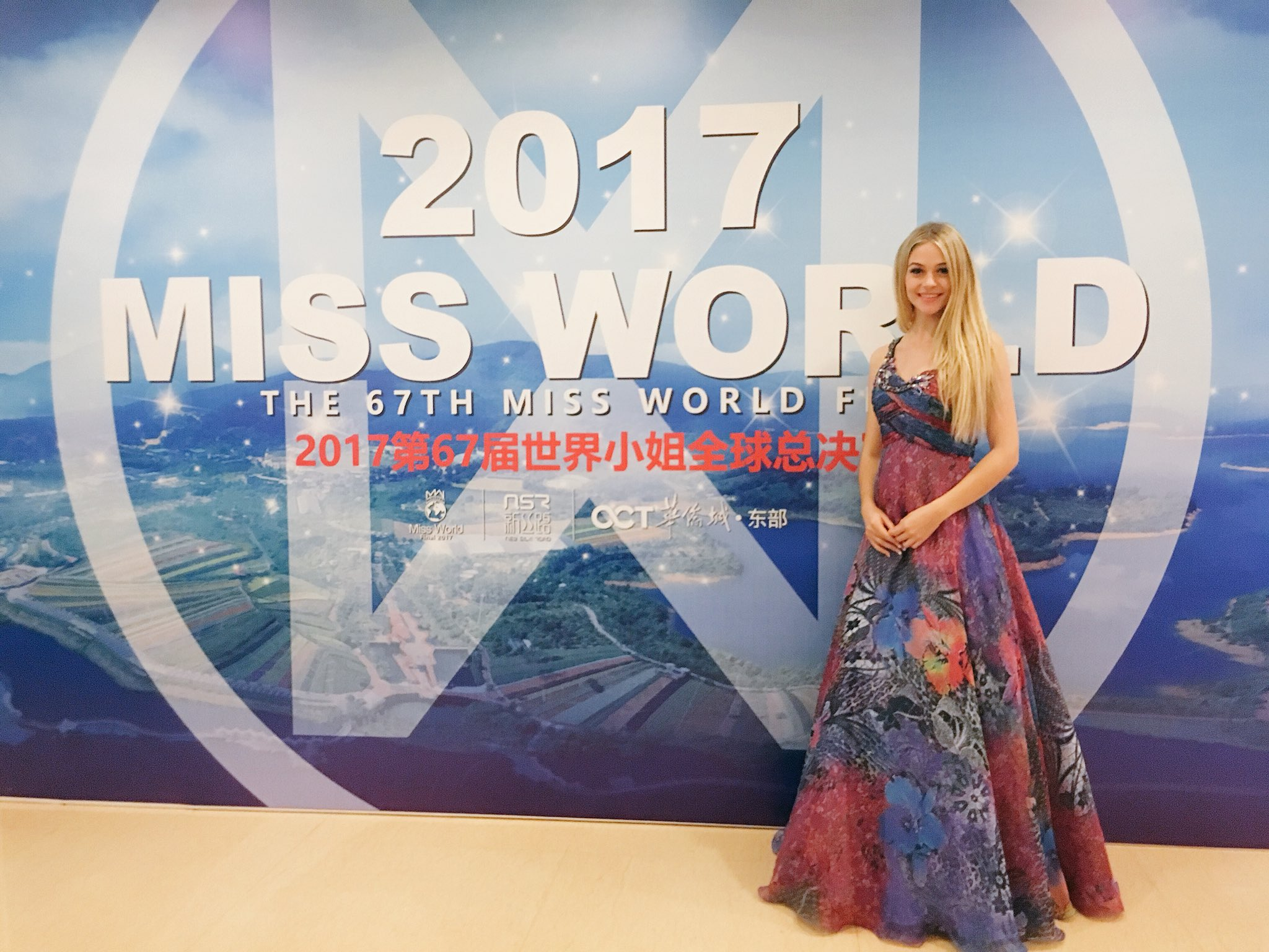 Miss World Canada sings her sing in China