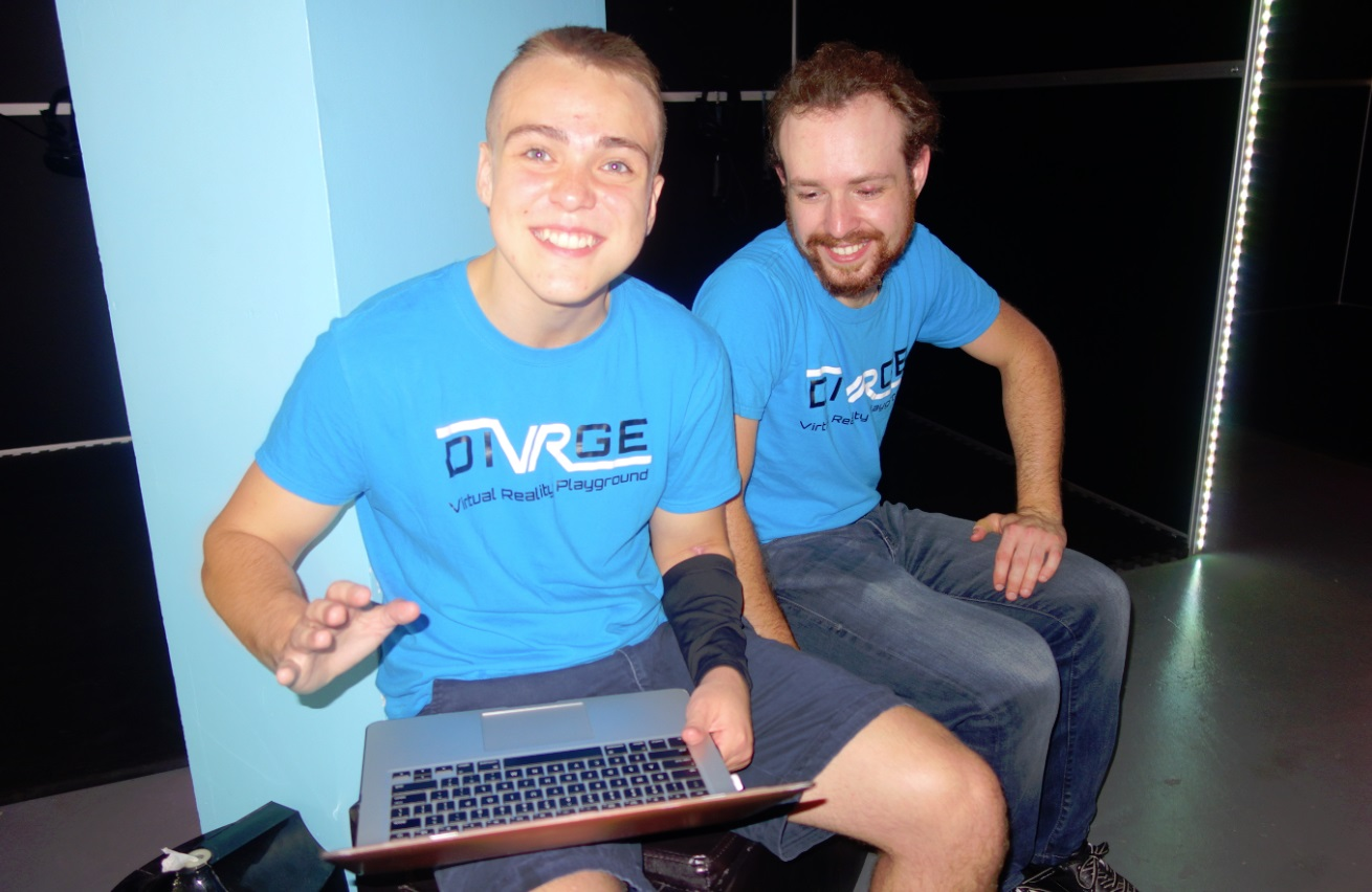 DiVRge staff members, Reese O'Craven and Kevin Badali (general manager)