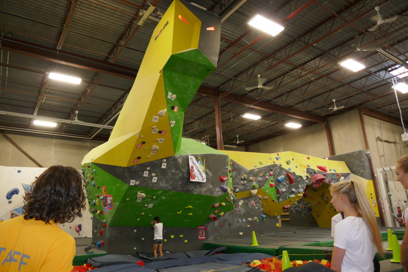 The Dragon challenge at Hub Climbing in Markham