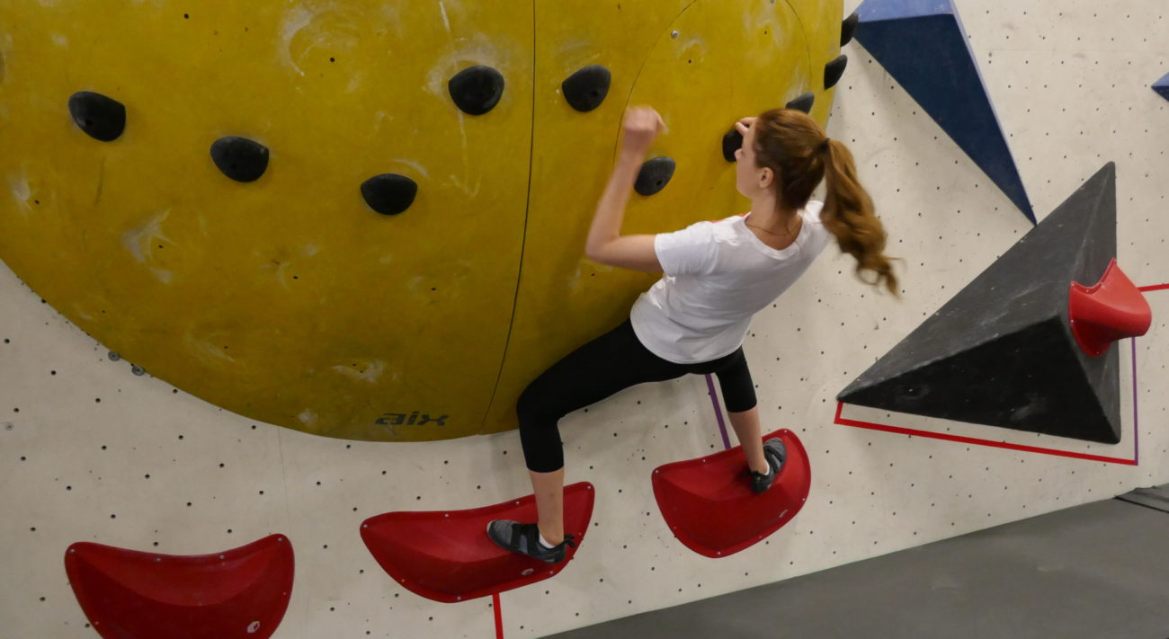 bouldering at Hub Climbing in Markham - Fitness Day - Miss World Canada 2018