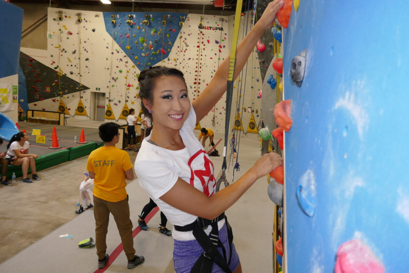 Alice Li at Hub Climbing in Markham