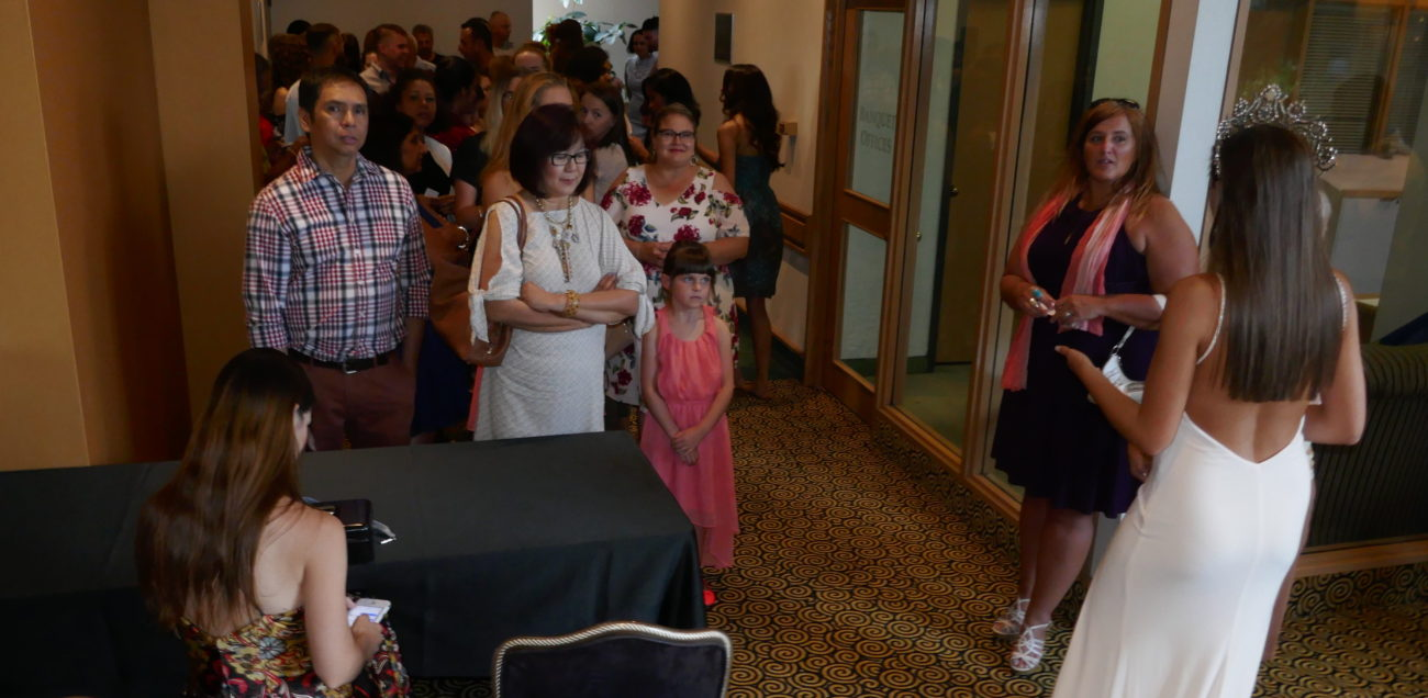 Parents and friends wait to watch Preliminaries competition at hotel - Miss World Canada 2018