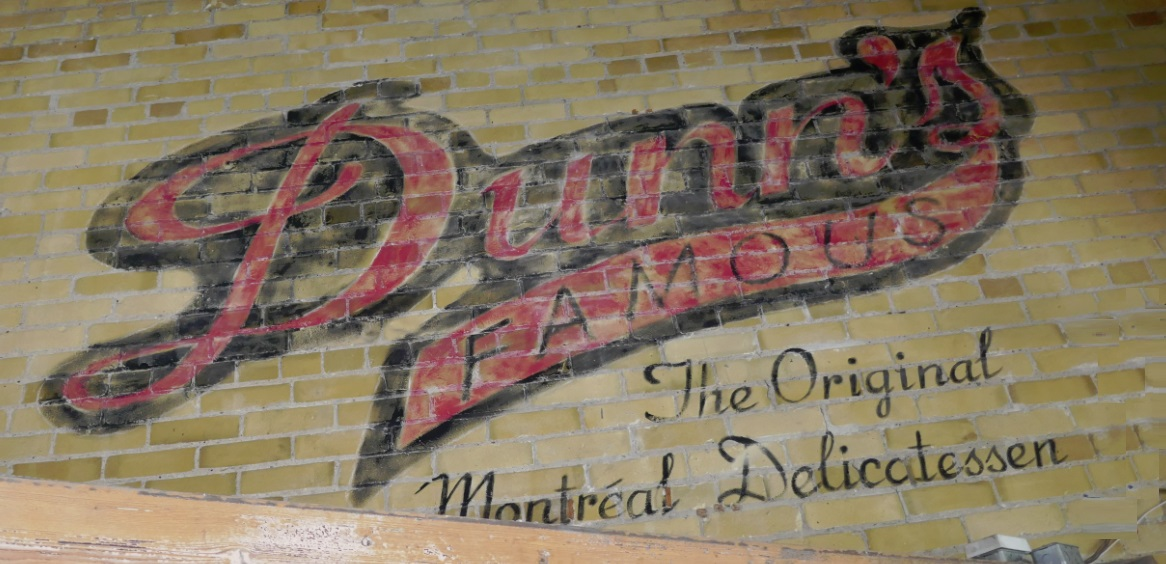 Dunns paint on brick inside RoxyBar on King St W