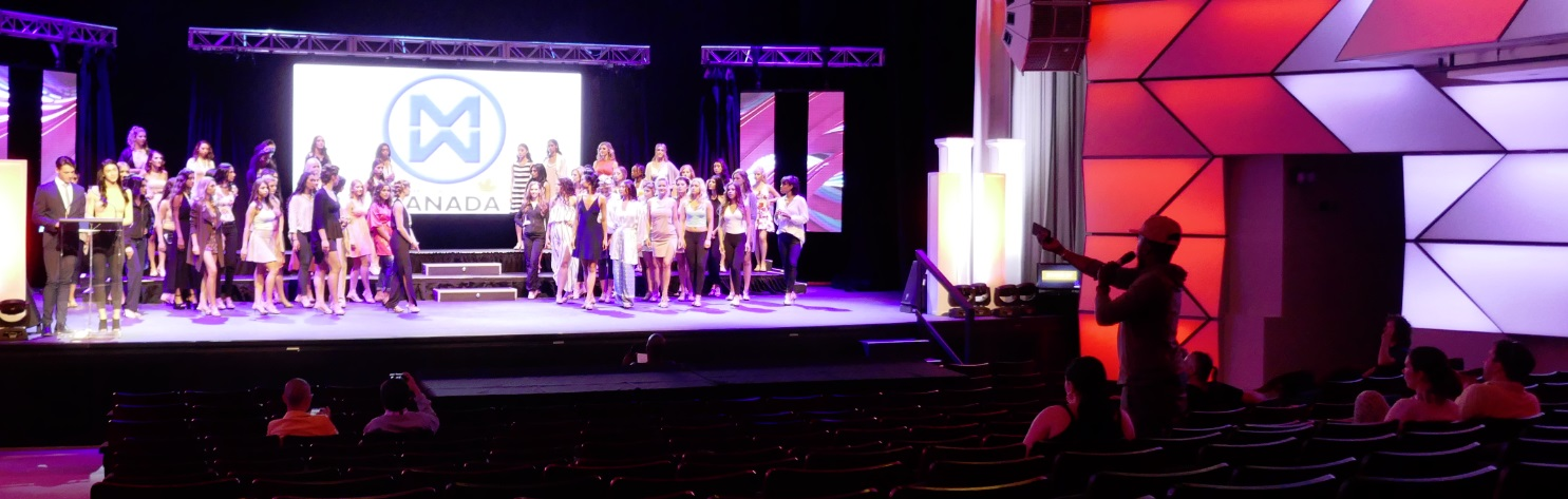 rehearsing Miss World Canada show at lyric Theatre 28 july 2018