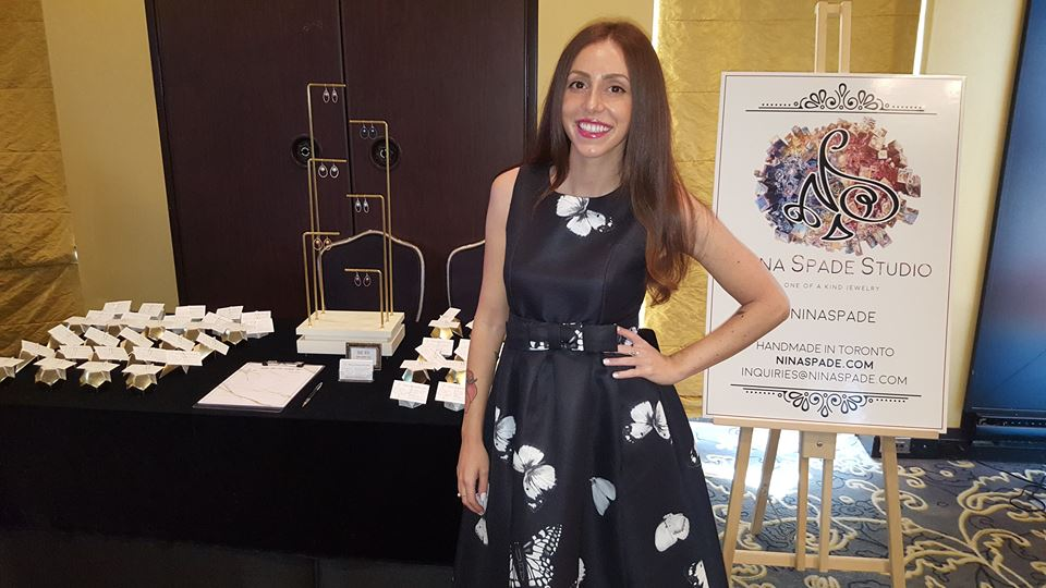 Nina Spade handmade jewellery, at 2018 Miss World Canada