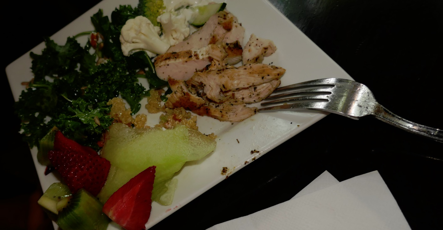Kale Chicken dinner at Roxy bar on king St - pool hall in downtown Toronto